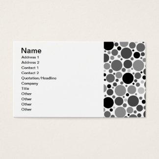pd48 POLKADOTS POLKA DOTS BLACK GREY GRAY WHITE CI Business Card