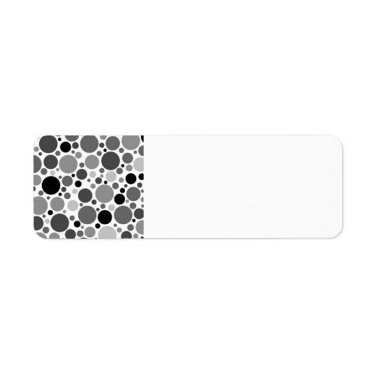 pd48 POLKADOTS POLKA DOTS BLACK GREY GRAY WHITE CI Label