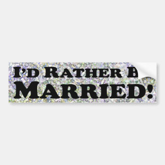 P'd esté casado bastante - pegatina para el parach pegatina para auto