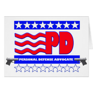 PD (PERSONAL DEFENSE ADVOCATE GREETING CARD