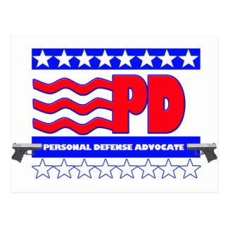 PD (PERSONAL DEFENSE ADVOCATE POSTCARD
