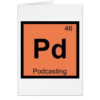 Pd - Podcasting Chemistry Periodic Table Symbol Card