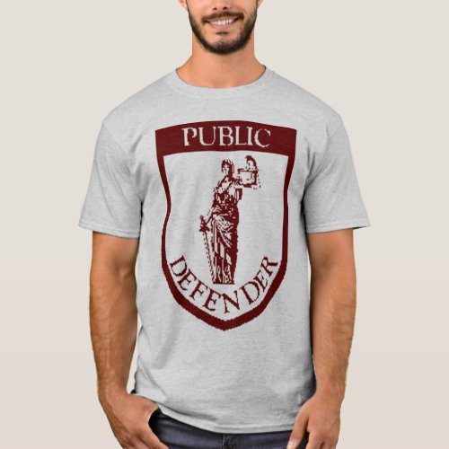 PD T_shirt _ Dark Red on Grey