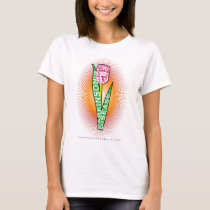 PD Wordy Tulip with burst T-Shirt