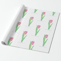 PD Wordy Tulip Wrapping Paper
