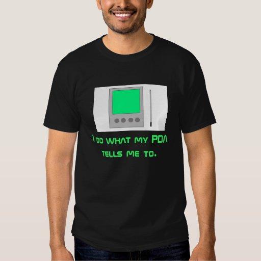 PDA en negro Playeras