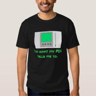 PDA on Black T Shirt