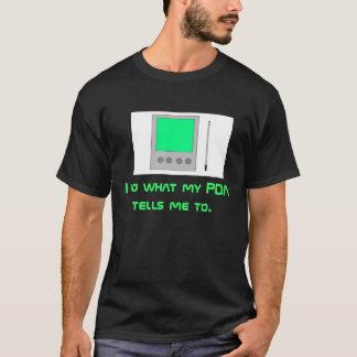 PDA on Black T-Shirt