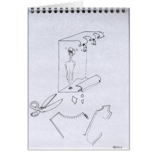 PDD28 Small Weak Drawing Psychoanalysis Doodles Card