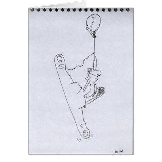 PDD 14 Small Weak Drawings Surrealist Large Gap C Card