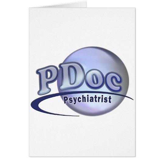 PDoc DOCTOR OF PSYCHIATRY PSYCHIATRIST LOGO Card
