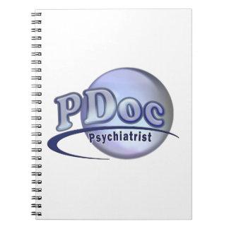 PDoc DOCTOR OF PSYCHIATRY PSYCHIATRIST LOGO Notebook