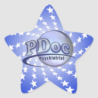 PDoc DOCTOR OF PSYCHIATRY PSYCHIATRIST LOGO Star Sticker