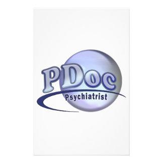 PDoc DOCTOR OF PSYCHIATRY PSYCHIATRIST LOGO Stationery
