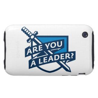 PDT - Azul del esquema del líder Tough iPhone 3 Protector