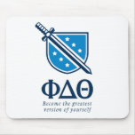 PDT - Stacked Become the Greatest Blue 1 Mouse Pad