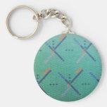 PDX Airport Carpet Basic Round Button Keychain