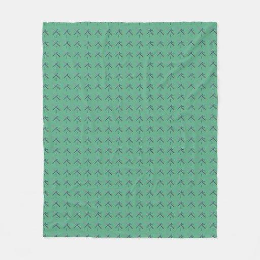 PDX Airport Carpet Fleece Blanket Zazzle