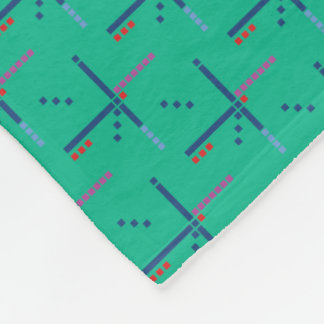 PDX Airport Carpet Pattern Portland Oregon Fleece Blanket