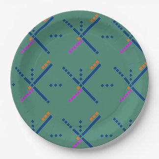 PDX Airport Carpet Portland Oregon Paper Plate