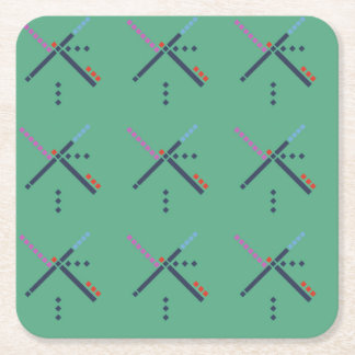 PDX Airport Carpet Square Paper Coaster