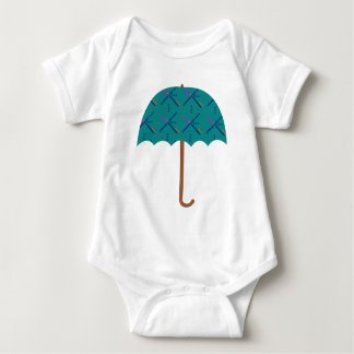 PDX Airport Carpet Umbrella Baby Bodysuit