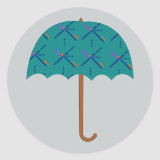 PDX Airport Carpet Umbrella Classic Round Sticker