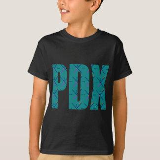 PDX Letters Portland Airport Carpet T-Shirt