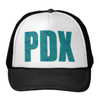 PDX Letters Portland Airport Carpet Trucker Hat