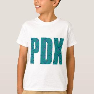 PDX Portland Airport Carpet Text T-Shirt