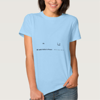 PE - Planet Earth - All Lands Unite in Peace Engli Tee Shirt
