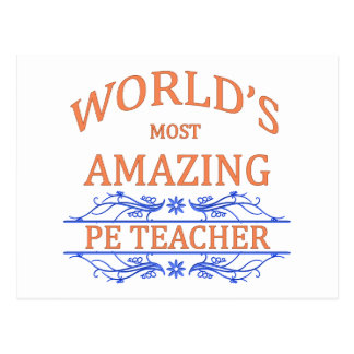 PE Teacher Postcard