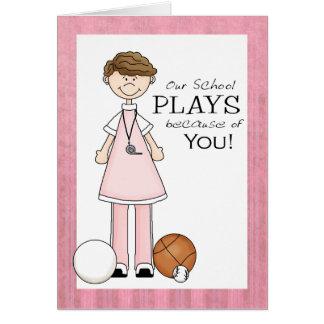 PE Teacher Thank You Card