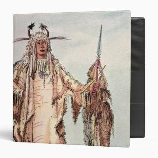 """PE-Toh-Pis-Beso indio Blackfoot, las costillas de Carpeta 1 1/2"""""""