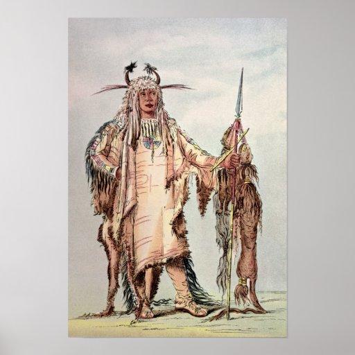 PE-Toh-Pis-Beso indio Blackfoot, las costillas de  Póster