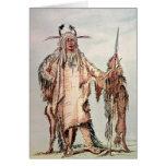 PE-Toh-Pis-Beso indio Blackfoot, las costillas de  Tarjeta De Felicitación