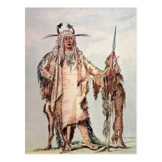 PE-Toh-Pis-Beso indio Blackfoot, las costillas de  Tarjetas Postales
