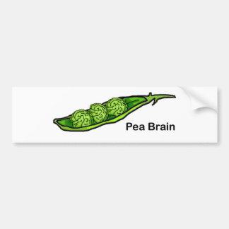 Pea Brain Bumper Sticker