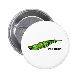 Pea Brain Pinback Button