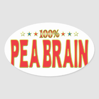 Pea Brain Star Tag Stickers