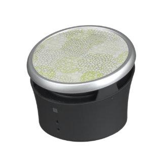 Pea Green and White Flower Burst Design Speaker