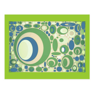 Pea Green & Blue Circles, template Cards