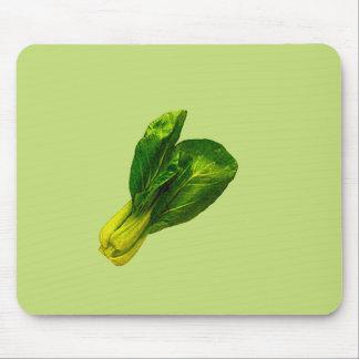 Pea Green Bok Choy Mouse Pad