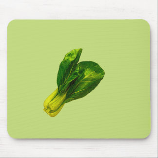 Pea Green Bok Choy Mouse Pads