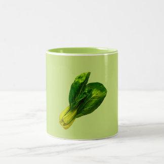 Pea Green Bok Choy Two-Tone Coffee Mug