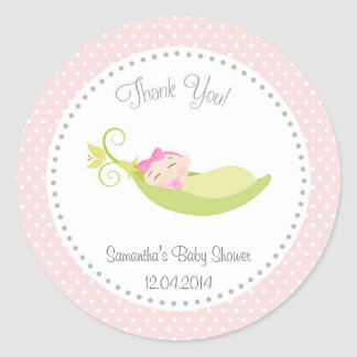Pea In A Pod Baby Girl Shower Sticker