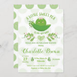 Pea in a Pod Baby Shower Invitations for Baby Girl