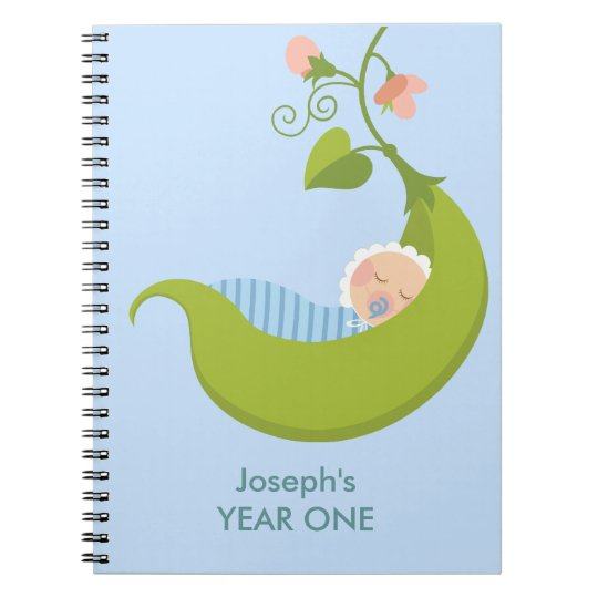 Pea in a Pod Boy Baby Notebook
