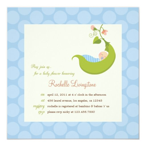 Pea In The Pod Baby Shower Invitations is perfect invitation example