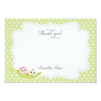 Pea In A Pod Thank You Card